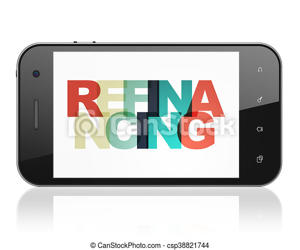 Finance concept: Smartphone with Refinancing on  display - csp38821744