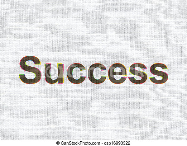 Finance concept: Success on fabric texture background - csp16990322