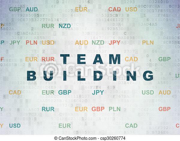 Finance concept: Team Building on Digital Paper background - csp30260774