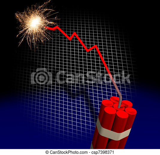 Finance crisis countdown - csp7398371