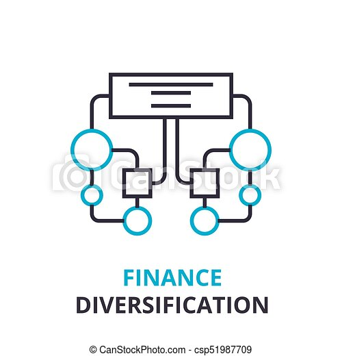 Finance diversification concept outline icon linear sign thin finance diversification concept outline icon linear sign thin line pictogram logo flat ccuart Image collections