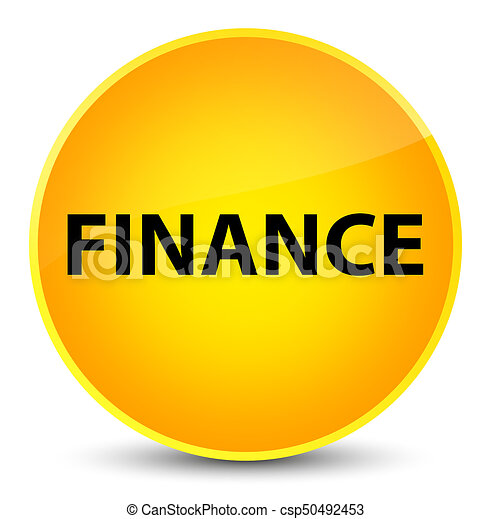 Finance elegant yellow round button - csp50492453
