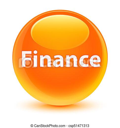 Finance glassy orange round button - csp51471313
