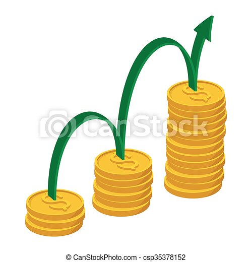 finance growth icon cartoon style finance growth icon in rh canstockphoto com financial clip art images financial clip art images