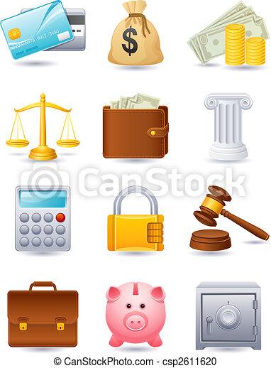 finance, icône - csp2611620