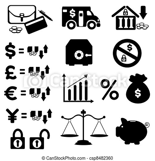 Business Finance Stock Market Icons Vector