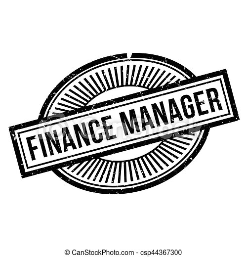finance manager rubber stamp grunge design with dust scratches