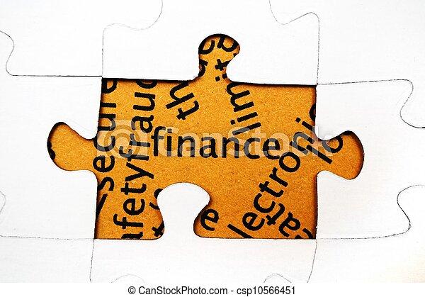 Finance puzzle concept - csp10566451