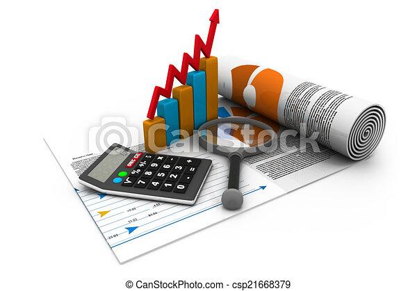 finance, statistiques, impôt, business, recherche, analytic, concept, comptabilité - csp21668379