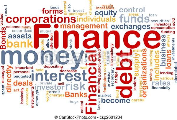 Finance word cloud - csp2601204