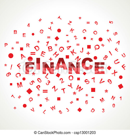 Finance word with in alphabets - csp13001203