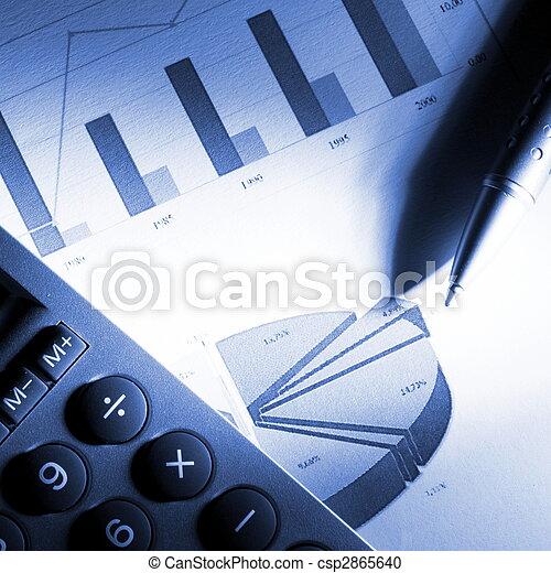 financeiro, dados, analisar - csp2865640