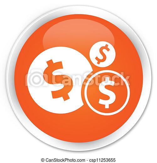 Finances (dollar) icon orange button - csp11253655