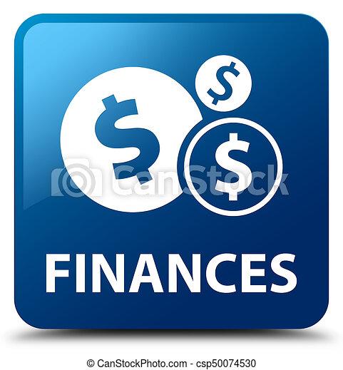 Finances (dollar sign) blue square button - csp50074530