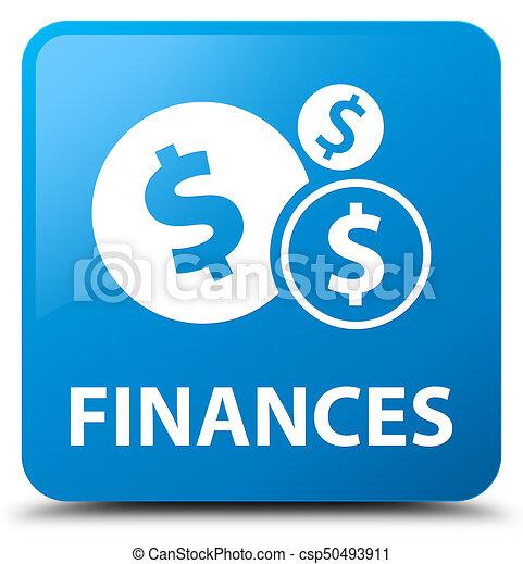 Finances (dollar sign) cyan blue square button - csp50493911