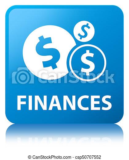 Finances (dollar sign) cyan blue square button - csp50707552