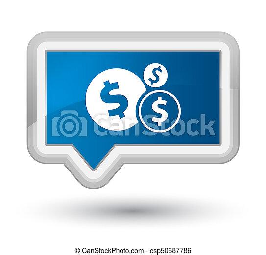 Finances dollar sign icon prime blue banner button - csp50687786