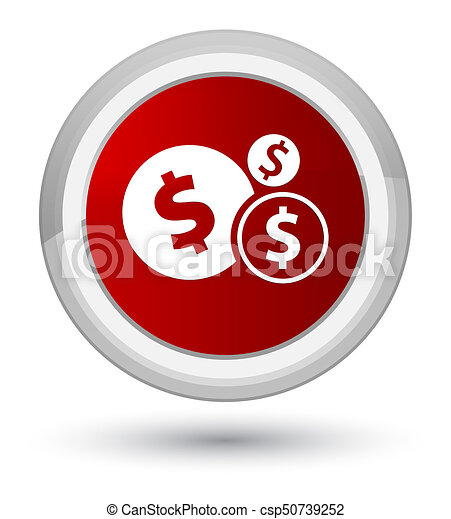 Finances dollar sign icon prime red round button - csp50739252