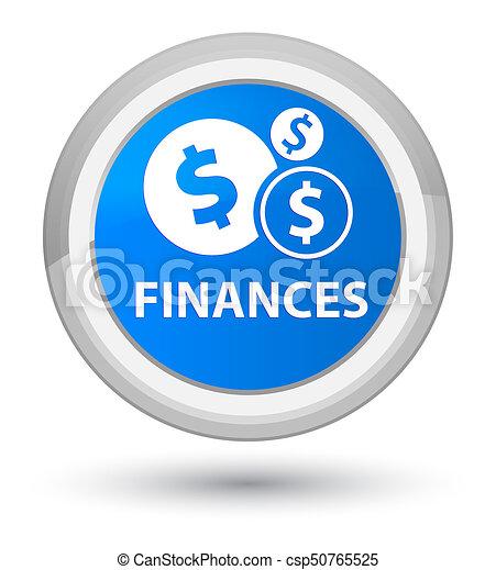 Finances (dollar sign) prime cyan blue round button - csp50765525