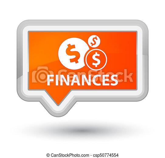 Finances (dollar sign) prime orange banner button - csp50774554