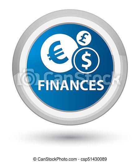Finances (euro sign) prime blue round button - csp51430089