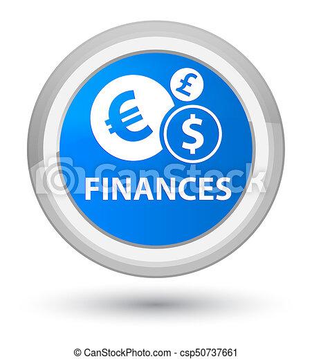 Finances (euro sign) prime cyan blue round button - csp50737661
