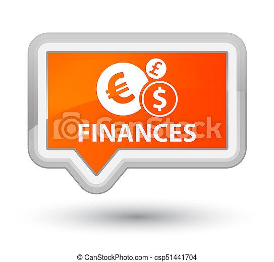 Finances (euro sign) prime orange banner button - csp51441704