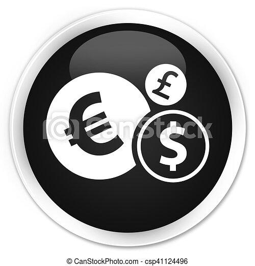 Finances icon black glossy round button - csp41124496