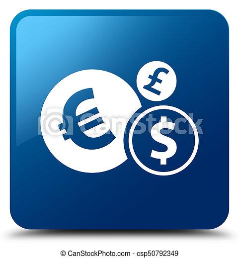 Finances icon blue square button - csp50792349