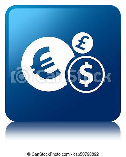 Finances icon blue square button - csp50798892