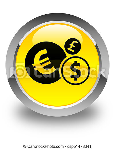 Finances icon glossy yellow round button - csp51473341