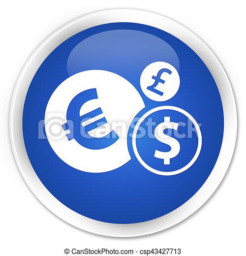 Finances icon premium blue round button - csp43427713