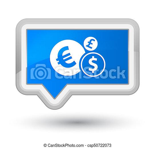 Finances icon prime cyan blue banner button - csp50722073