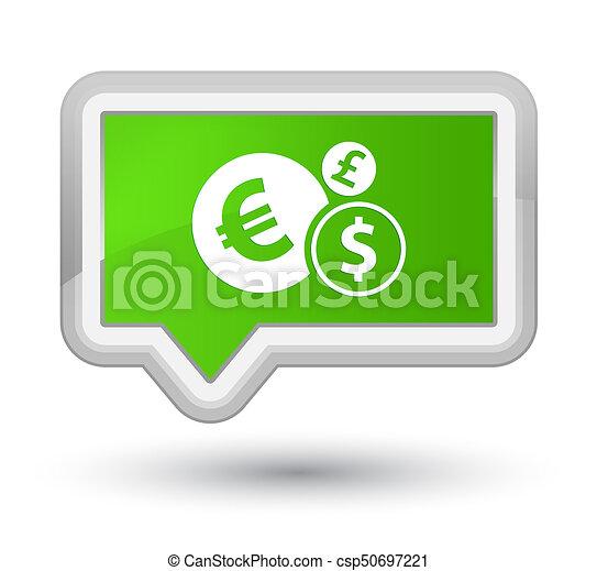 Finances icon prime soft green banner button - csp50697221