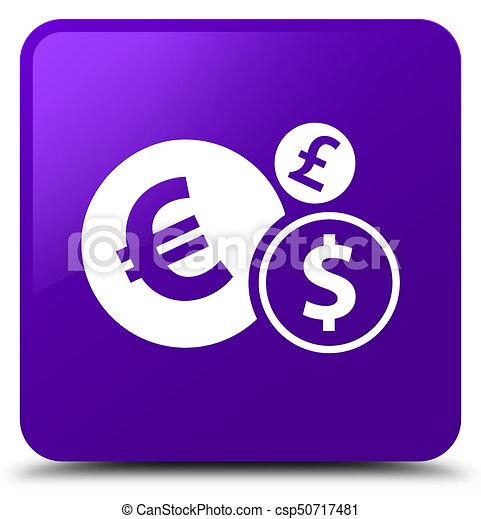 Finances icon purple square button - csp50717481