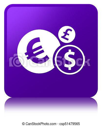 Finances icon purple square button - csp51479565