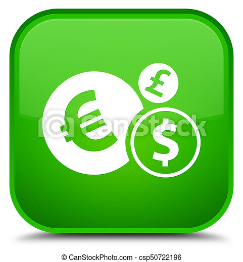 Finances icon special green square button - csp50722196