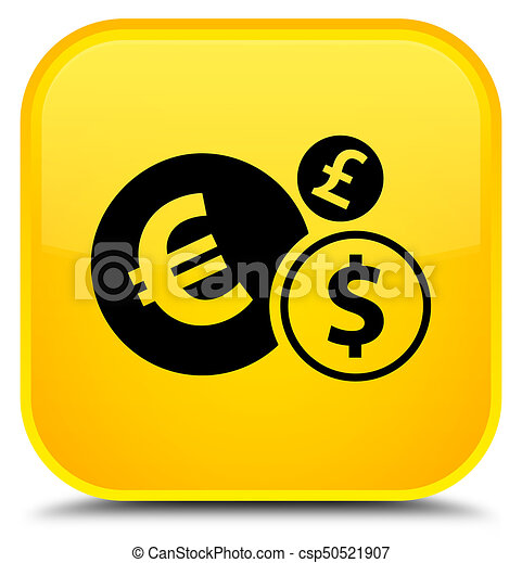 Finances icon special yellow square button - csp50521907