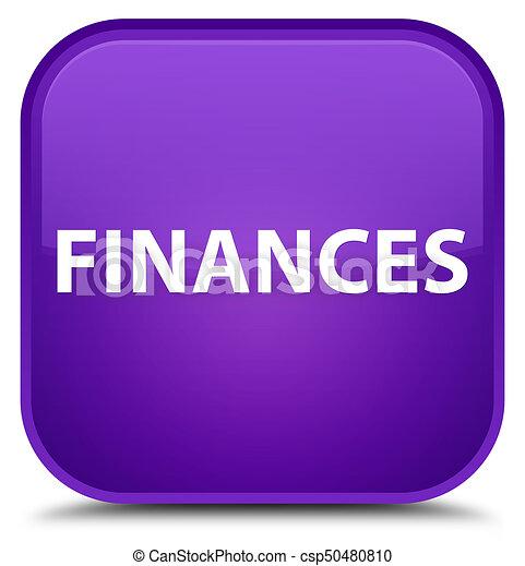 Finances special purple square button - csp50480810