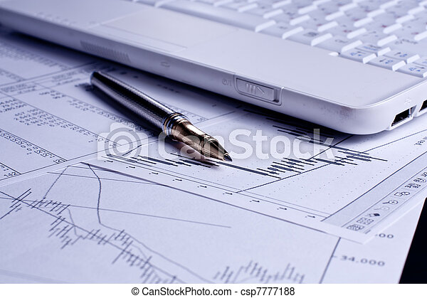 financiën, analyse, diagrammen - csp7777188