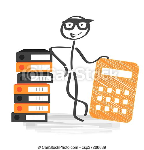 financial accounting stick figure with calculator and file rh canstockphoto com accountant clip art free accounting clipart