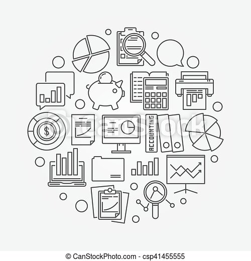 Financial Accounting Clipart Vector And Illustration 46959