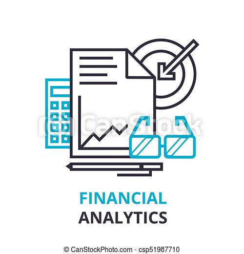 Financial analytics concept outline icon linear sign thin line financial analytics concept outline icon linear sign thin line pictogram logo flat ccuart Image collections