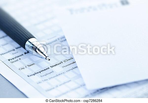 Financial application form - csp7286284
