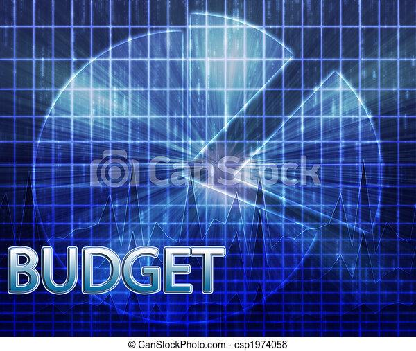 Financial budgeting illustration - csp1974058