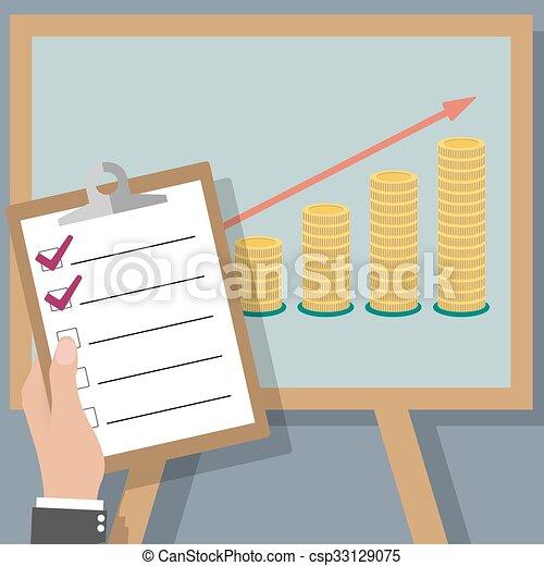 financial business plan  - csp33129075