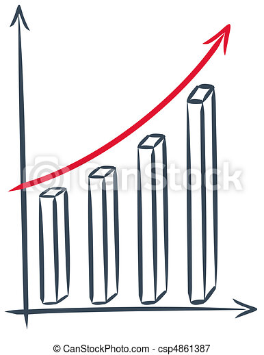 Financial chart - csp4861387