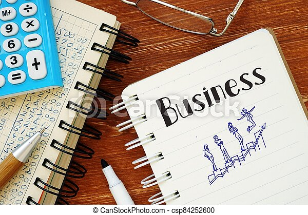 Financial concept about Business with sign on the piece of paper. - csp84252600