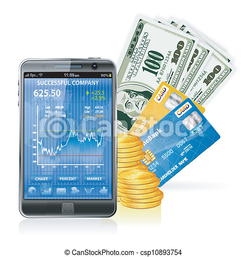 Financial Concept - Make Money on the Internet - csp10893754