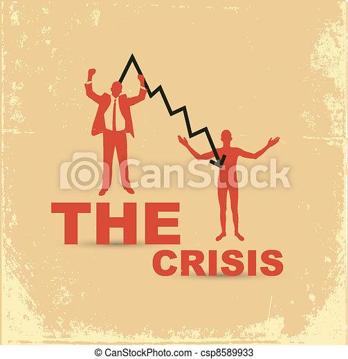 Financial crisis concept. Joyful and naked businessman. - csp8589933